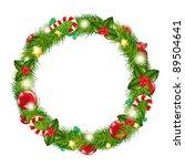 merry christmas wreath ...