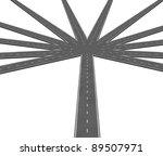 multiple strategies and...   Shutterstock . vector #89507971