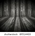 dark wooden room as background | Shutterstock . vector #89514403