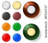 Multicolored  Bottle Cap. ...