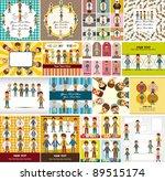 young boy card | Shutterstock .eps vector #89515174