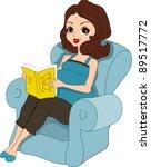 illustration of a pregnant... | Shutterstock .eps vector #89517772