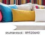 decorative pillow natural fabric | Shutterstock . vector #89520640