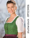 Portait Of A Bavarian Girl In...