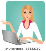 attractive business woman... | Shutterstock .eps vector #89533192