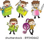 happy days and class schedules  ... | Shutterstock .eps vector #89540662