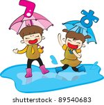 happy days and  funny life   a... | Shutterstock .eps vector #89540683