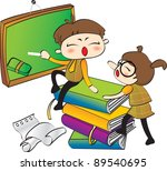 happy days   academic life | Shutterstock .eps vector #89540695