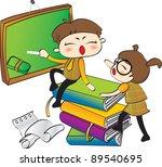 happy days   academic life | Shutterstock .eps vector #89540695
