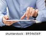 young adult working on a... | Shutterstock . vector #89546569