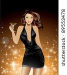 beautiful woman holding... | Shutterstock .eps vector #89553478