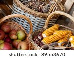 Autumn Decorated Baskets On A...