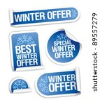 special winter offer stickers... | Shutterstock .eps vector #89557279