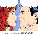 comic pop art illustration of a ... | Shutterstock . vector #89566135