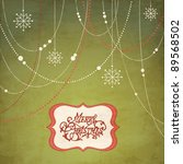 abstract christmas background ... | Shutterstock .eps vector #89568502