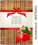 box decorations and ribbon on... | Shutterstock .eps vector #89570251