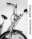 old retro cruiser bike. front...   Shutterstock . vector #89574421
