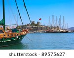 bodrum castle and sailing boats ...