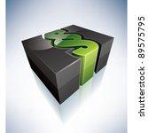 3d green symbol  paragraph... | Shutterstock .eps vector #89575795