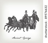 Engraving Vintage Carriage Fro...