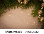 Christmas festive background with copy space - stock photo