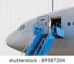 big passenger airplane parked...