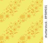 beautiful floral seamless... | Shutterstock .eps vector #89589031