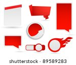 business empty labels and... | Shutterstock .eps vector #89589283