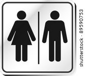 vector man   woman restroom sign | Shutterstock .eps vector #89590753
