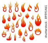 collection of fire icons | Shutterstock .eps vector #89591461
