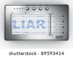3d rendering of a lie detector | Shutterstock . vector #89593414