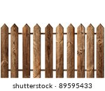 Wooden Fence Over The White...
