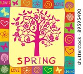 spring background. illustration   Shutterstock . vector #89595490
