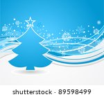 winter fir tree background | Shutterstock .eps vector #89598499