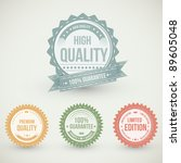 vintage  labels collection  ... | Shutterstock .eps vector #89605048
