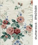 curtain with a floral pattern | Shutterstock . vector #89605684