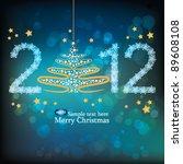 christmas card | Shutterstock .eps vector #89608108