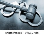 Gavel And Handcuffs With Keys...