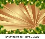 christmas card gold background... | Shutterstock .eps vector #89626609