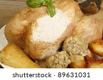 free range roasted chicken with ...
