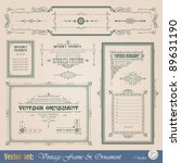 vintage frame  ornament and... | Shutterstock .eps vector #89631190