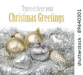 silver and gold christmas... | Shutterstock . vector #89640301