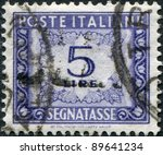 italy   circa 1955  a stamp...   Shutterstock . vector #89641234