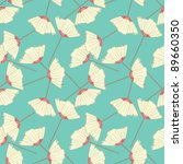 Seamless Pattern Of Flowers On...