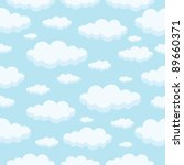 seamless pattern of clouds on... | Shutterstock .eps vector #89660371