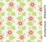 seamless floral pattern with... | Shutterstock .eps vector #89660374