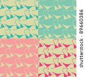 seamless patterns of bikinis | Shutterstock .eps vector #89660386