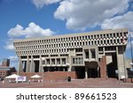 Boston City Hall  Downtown...
