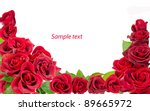 Stock photo red rose on the white 89665972