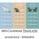 calendar collection 2012 with... | Shutterstock .eps vector #89666842